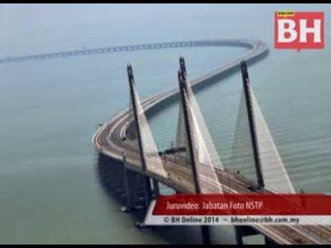 Jambatan Kedua Pulau Pinang dirasmikan