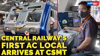 Mumbai News | Central Railway's first AC local train arrives at CSMT in Mumbai!
