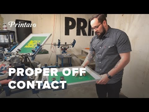 Proper Off Contact In Screen Printing
