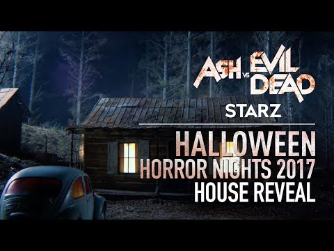 STARZ Ash vs Evil Dead House Reveal | Halloween Horror Nights 2017