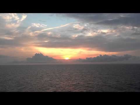 MS Finnlady departure Helsinki and sunset over the Baltic Sea Suomi Finland 11.8.2014