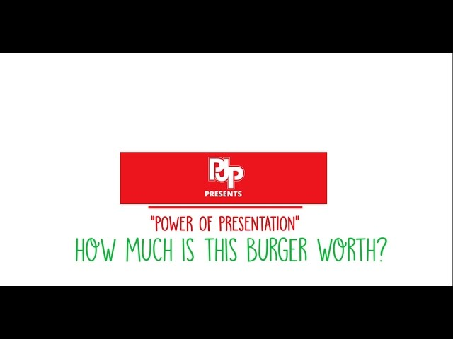 The Power of Presentation: How Much is This Burger Worth?