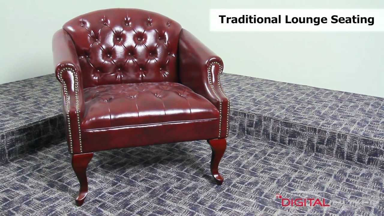 Boss BR99801 BY: Traditional Wood Club Chair Button Tufted Burgundy Oxblood    YouTube