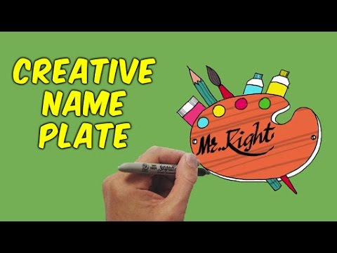 How To Make A Creative Name Plate | DIY Name Plates | Basic Drawing Lessons For Kids