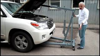 Кран гаражный гидравлический видеообзор