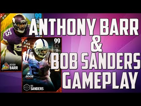 BOSS 99 BOB SANDERS, BOSS HUTCH AND 97 ANTHONY BARR GAMEPLAY!!! - MUT 17