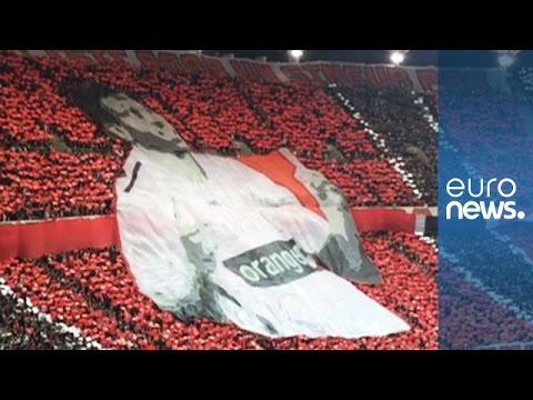 Dinamo Bucharest football fans' touching tribute to Patrick Ekeng