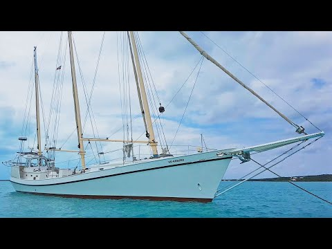 BOAT TOUR - 63 Foot 3-Masted Sharpie Schooner - Ep 78 Sailing Luckyfish