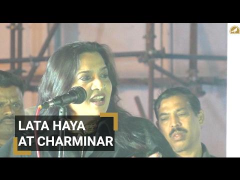 Lata Haya at Charminar in Ek Shaam Makhdoom ke naam
