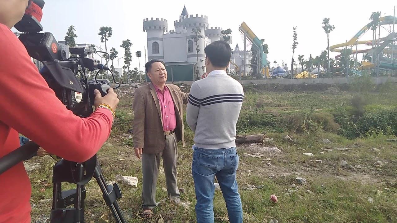 VTV Phỏng vấn dân làng Bắc lãm về việc công viên nước thanh hà bị phá