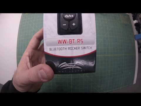Wet Sounds Bluetooth Rocker Switch / AuX controller Unboxing Video WW-BT-RS