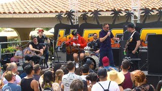 Stryker talks with Portugal. The Man at the KROQ Coachella House