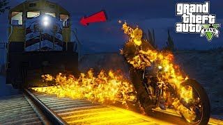 GHOST RIDER BURNS TRAIN - GTA 5 Mods