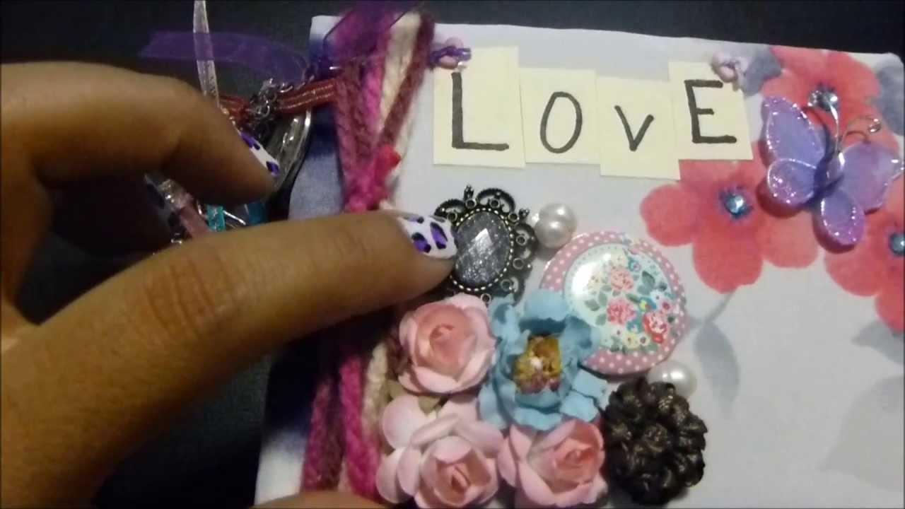 Scrapbook mini album con hojas de colores youtube - Como decorar un album de fotos ...