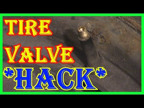 HOW TO CHANGE A TIRE VALVE  STEM - ULTIMATE  HACK -  WITHOUT EVER TOUCHING THE TIRE