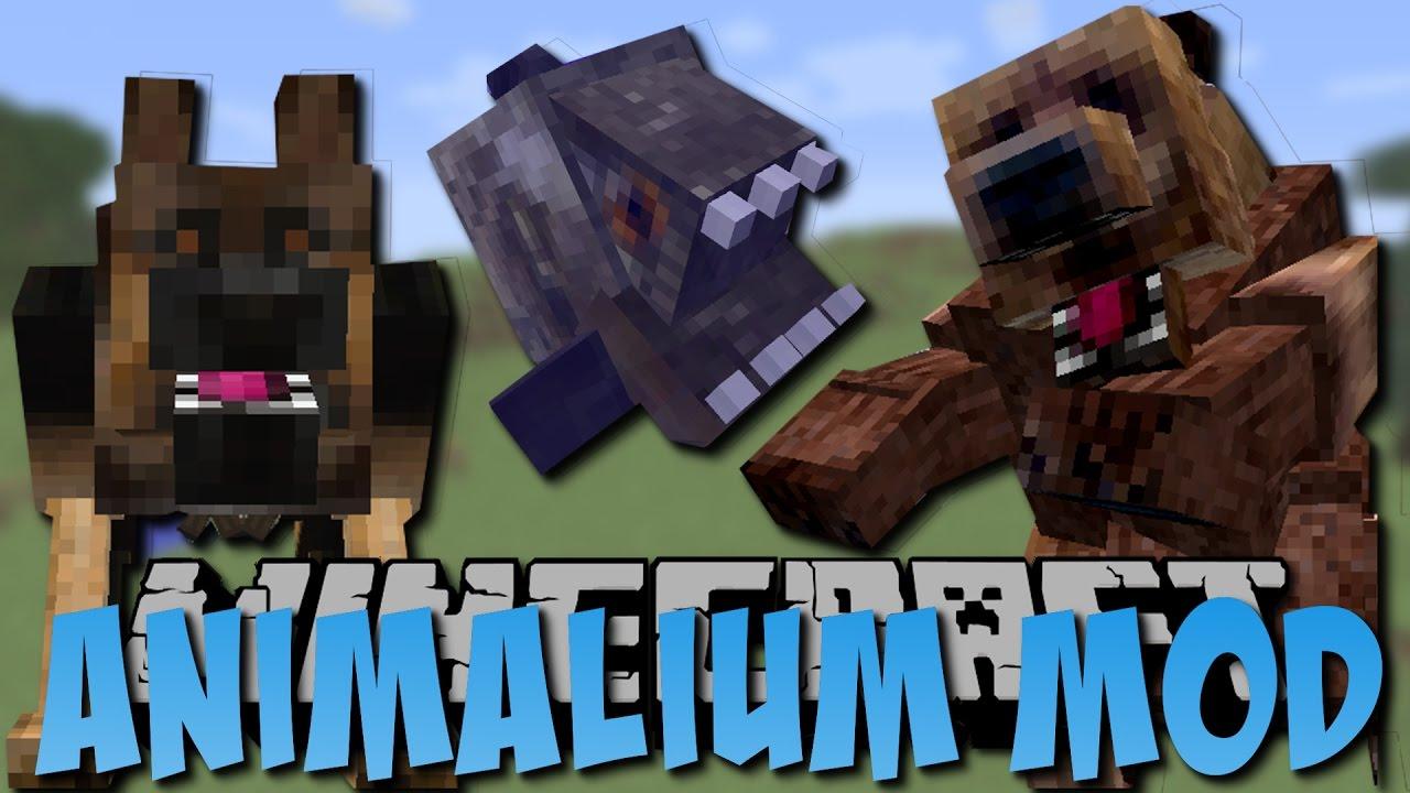 REALISTISCHE TIERE In Minecraft Bär Piranha Hund Deutsch - Minecraft spiele mit tieren