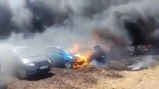 Fire accident near Bangalore airport