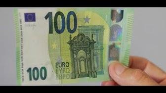 NEUE BANKNOTEN: Warum die Notenbank den 100-Euro-Schein schrumpft