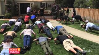 Ssgt.@Johnny_Joey & @HomeandFamilyTV do @Pushups4Charity for @bootcampaign!