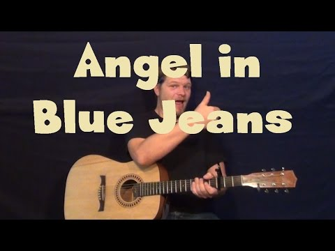 Angel In Blue Jeans (Train) Easy Strum Fingerstyle Guitar Lesson How to Play Tutorial