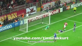 Galatasaray-Kopenhag 3-1 Şampiyonlar Ligi Maçı Melo'nun Muhteşem Kafa Golü