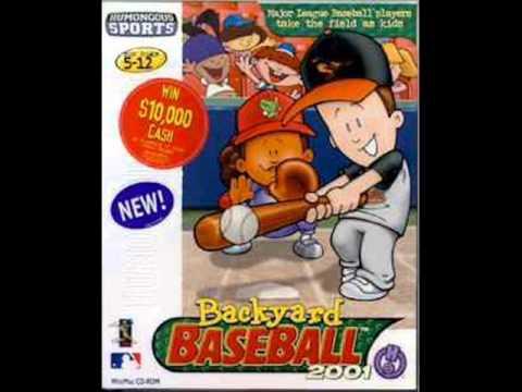 Online Backyard Baseball backyard baseball 2001 music: online menu - youtube