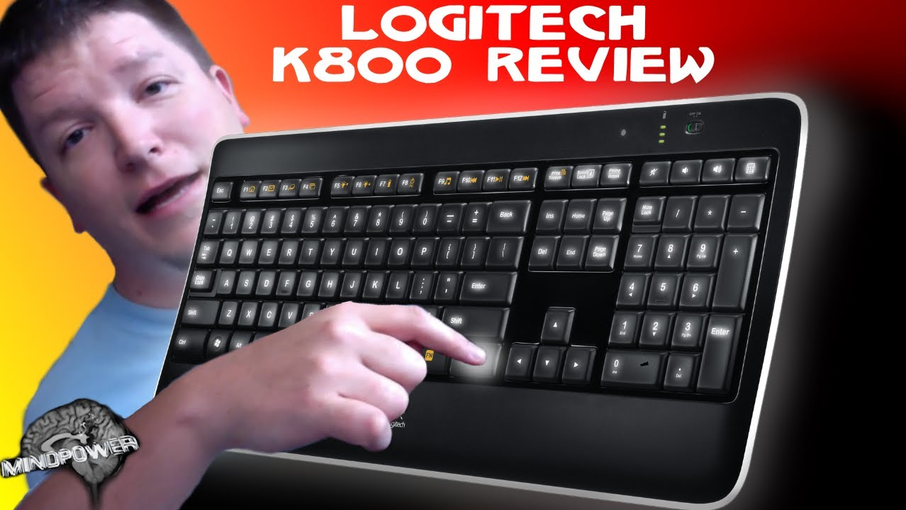 a948627e66b Logitech K800 Wireless Illuminated Keyboard Review - Mindpower - YouTube