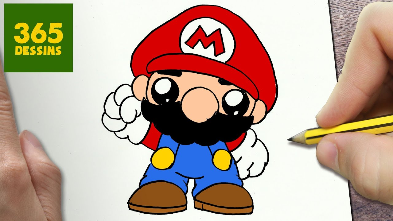 Comment dessiner mario bros kawaii tape par tape - Mario bros dessin ...