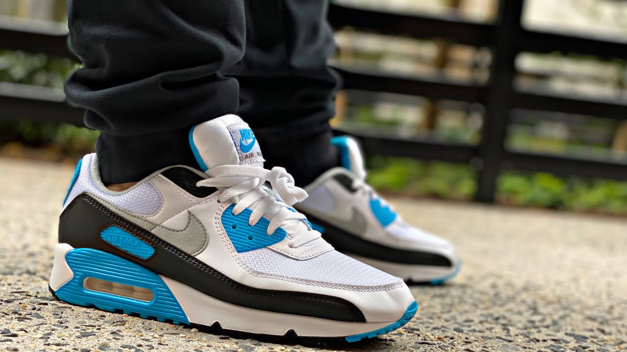 NIKE AIR MAX 90 LASER BLUE OG REVIEW & ON FEET| AIR MAX III
