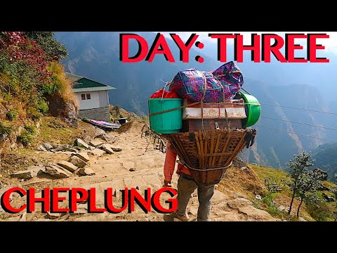 SOLO TREKKING EVEREST B.C. | Bupsa To Cheplung | 11 Hour Trek | DAY THREE