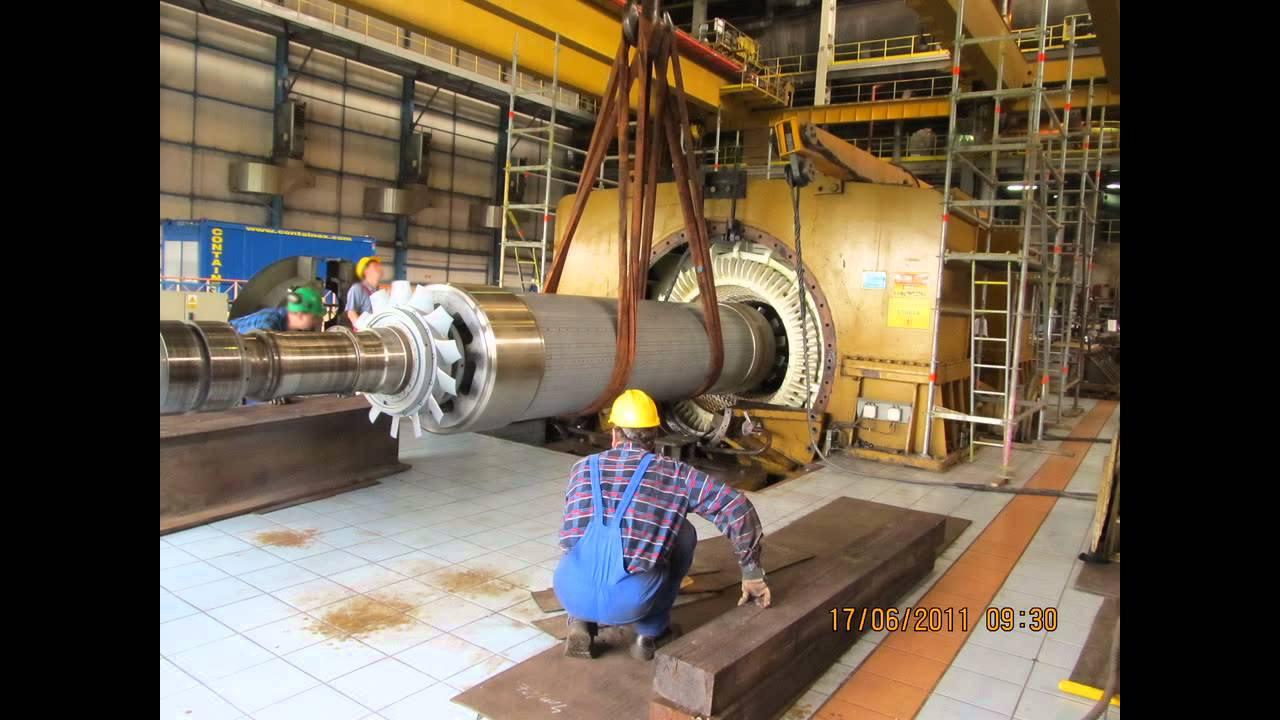 Wyciąganie Wirnika Generatora synchronicznego 125MVA