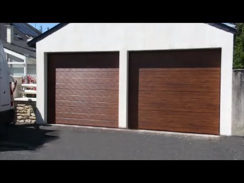 montage porte de garage sectionnelle r100 snb youtube. Black Bedroom Furniture Sets. Home Design Ideas