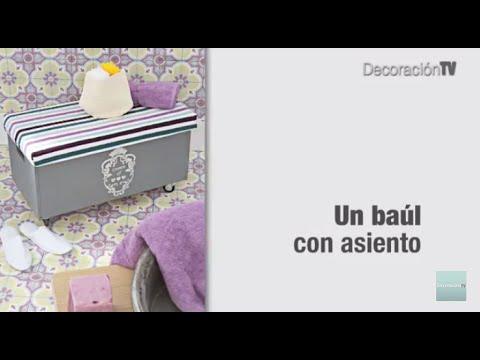 Reciclar muebles: Un baúl con asiento. Manualidades - YouTube