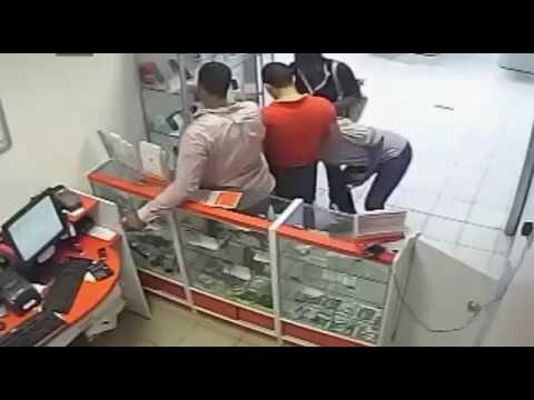 Theft caught on camera cctv