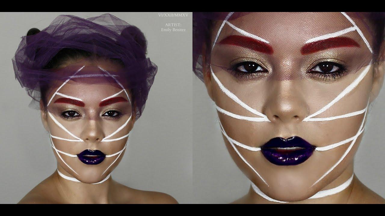 Futuristic Avant-Garde Makeup - YouTube
