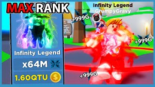 I Unlocked The Max Rank Infinity Legend And Broke The Leaderboard | Roblox Ninja Legends