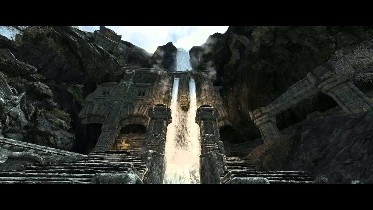 Skyrim Animated Wallpaper Journey Through Skyrim Live Wallpaper 1080p Youtube