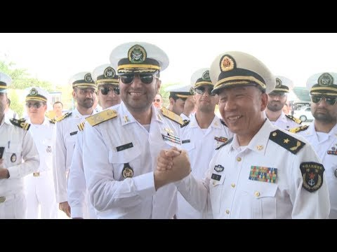 Chinese Navy Visiting Flotilla Docks at Iran's Bandar Abbas