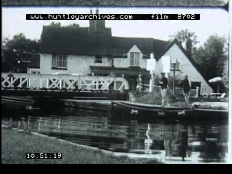 Boat On Canal, 1960's - Film 8702