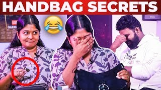 'Kavalan' Neepa FOREIGN Handbag Secrets Revealed by Vj Ashiq | What's Inside the Handbag?