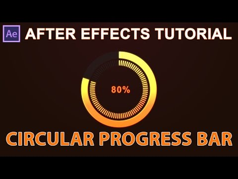 After Effects Tutorial : Circular Or  Rounded progress bar