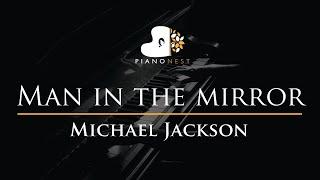Michael Jackson - Man in The Mirror - Piano Karaoke Instrumental Cover with Lyrics