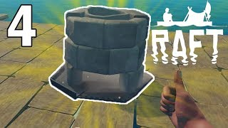 Smelting and Research! - Raft Gameplay - Part 4 - Survival Game