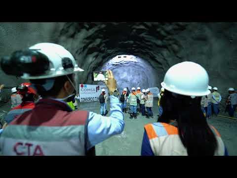Ejecución de los trabajos en el Túnel de Amagá, en Colombia.