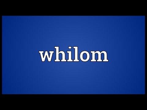 Header of whilom
