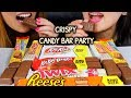 ASMR CHOCOLATE CANDY BAR PARTY (KITKAT, REESE'S) 초콜릿 리얼사운드 먹방 チョコレートcoklat चॉकलेट | Kim&Liz ASMR