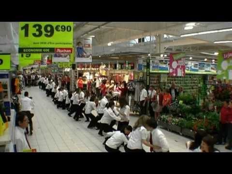 flashmob officiel auchan sin le noble douai doovi. Black Bedroom Furniture Sets. Home Design Ideas