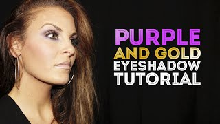 PURPLE AND GOLD EYE SHADOW TUTORIAL Thumbnail