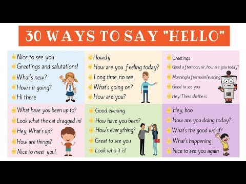 30 different ways to say hello useful english greetings 7 e s l different ways to say hello m4hsunfo