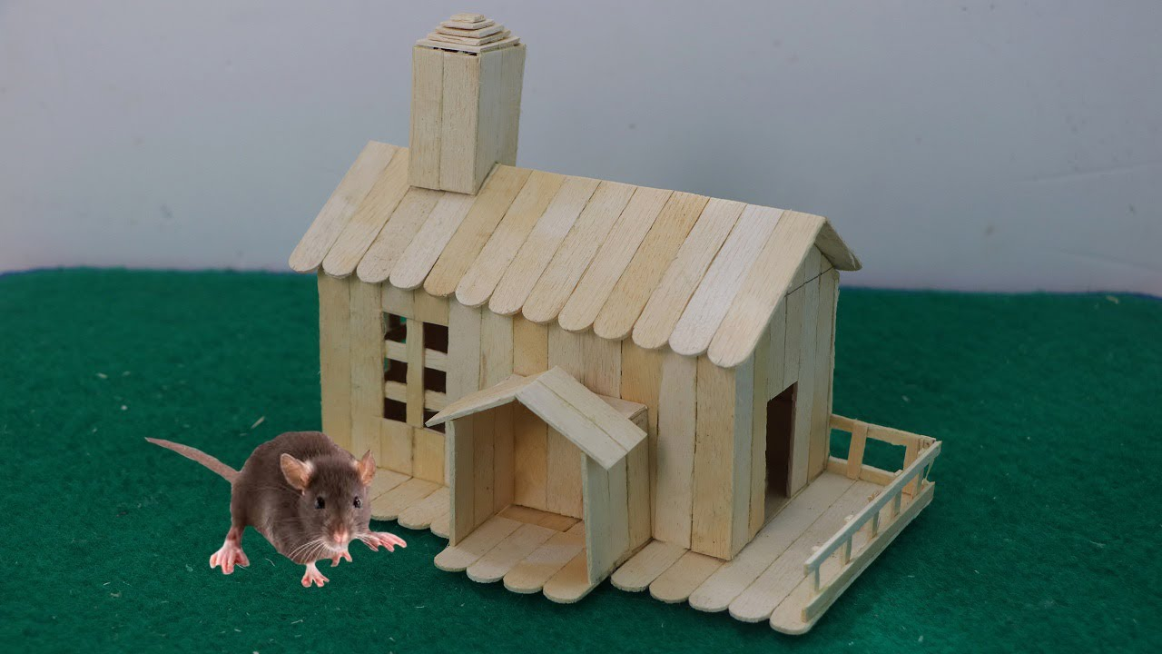 How to make ice cream stick house for rat youtube how to make ice cream stick house for rat ccuart Image collections